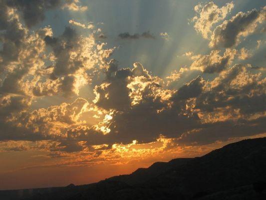 Sonnenuntergang auf einer Insel des Odysseus