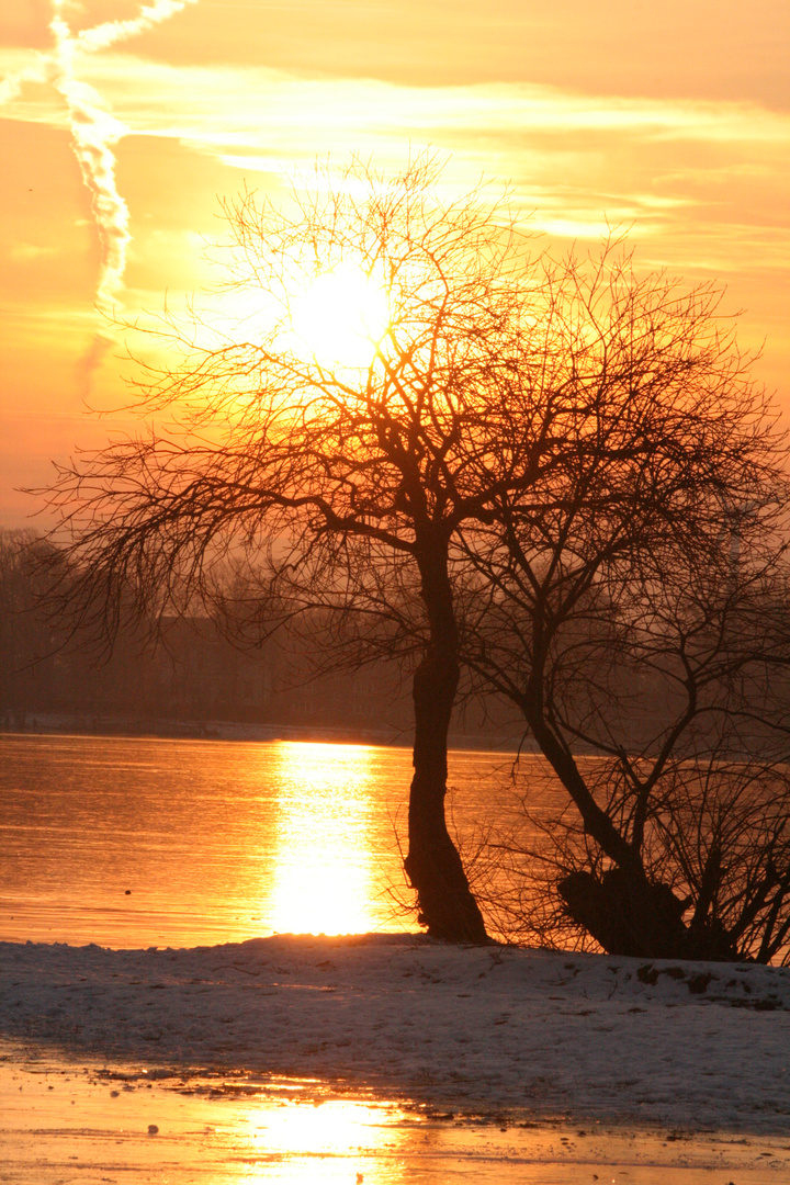 Sonnenuntergang auf Eis