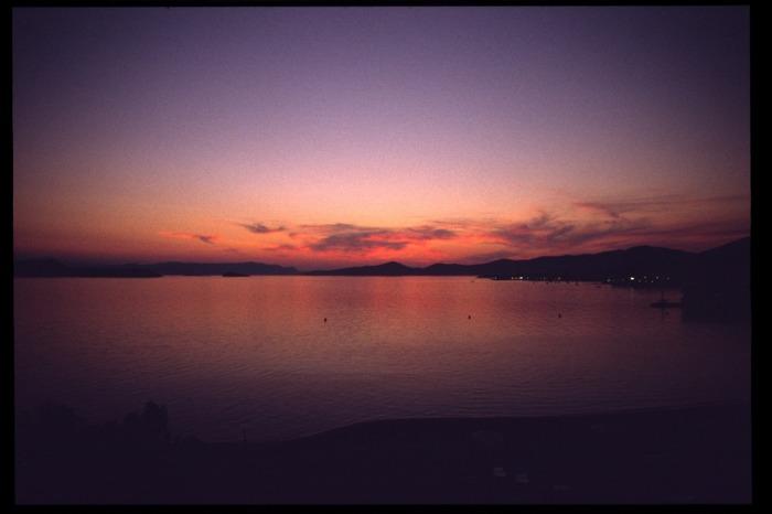 Sonnenuntergang auf Euböa 2003