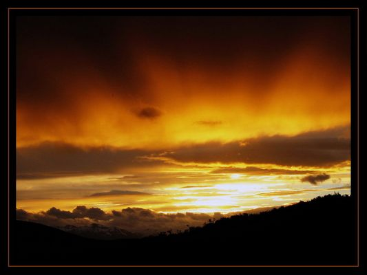 Sonnenuntergang auf Feuerland / Ushuaia -2-