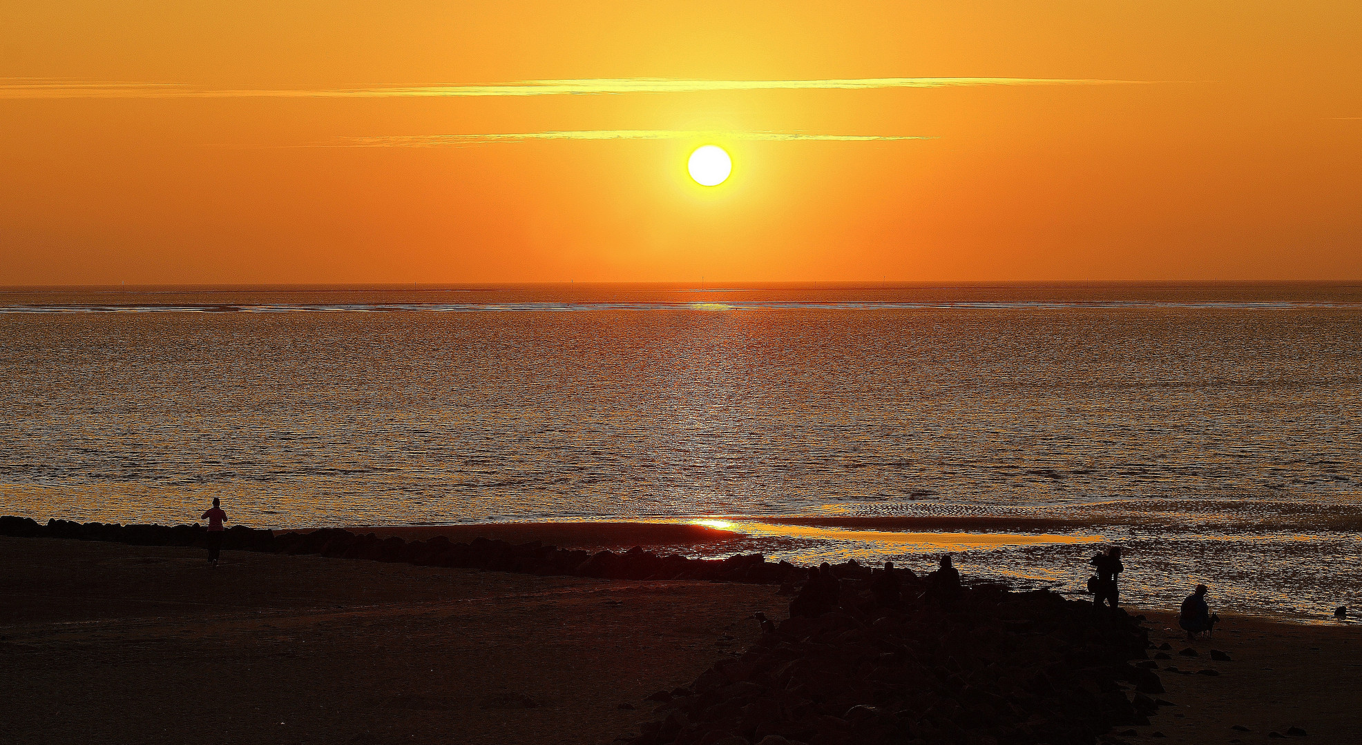Sonnenuntergang auf Föhr 2