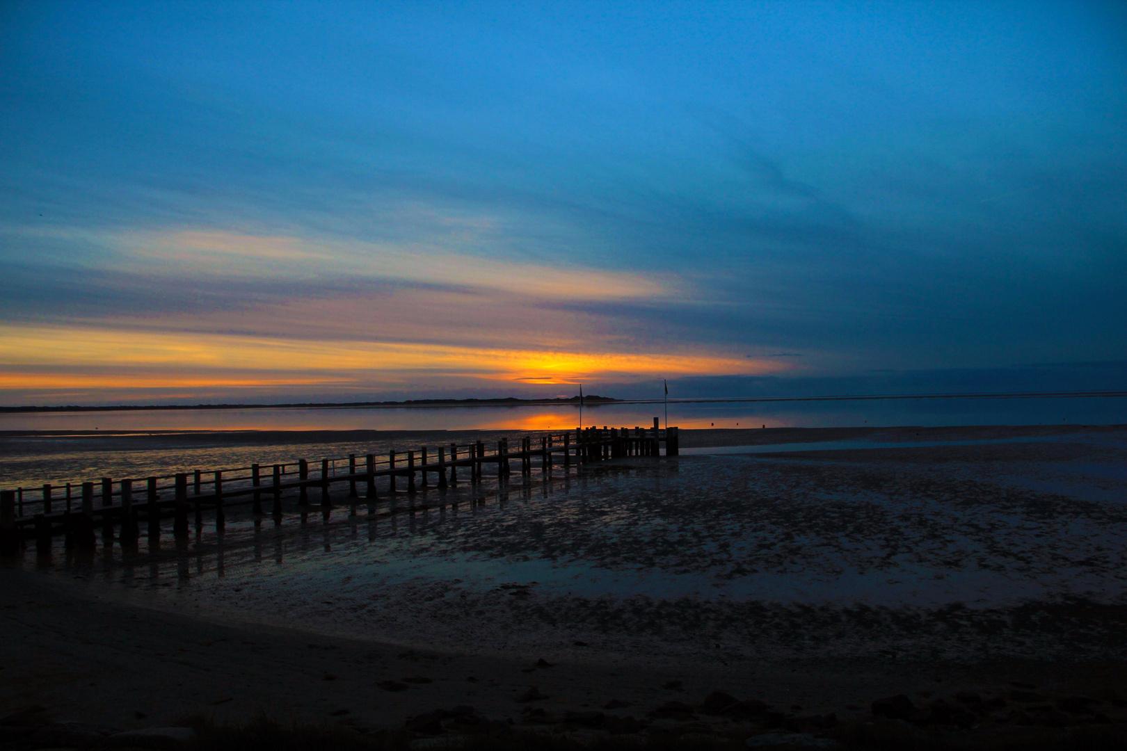 Sonnenuntergang auf Föhr