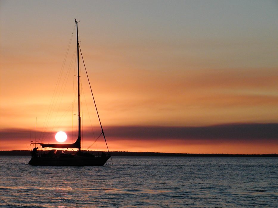 Sonnenuntergang auf Fraser Island, Australien