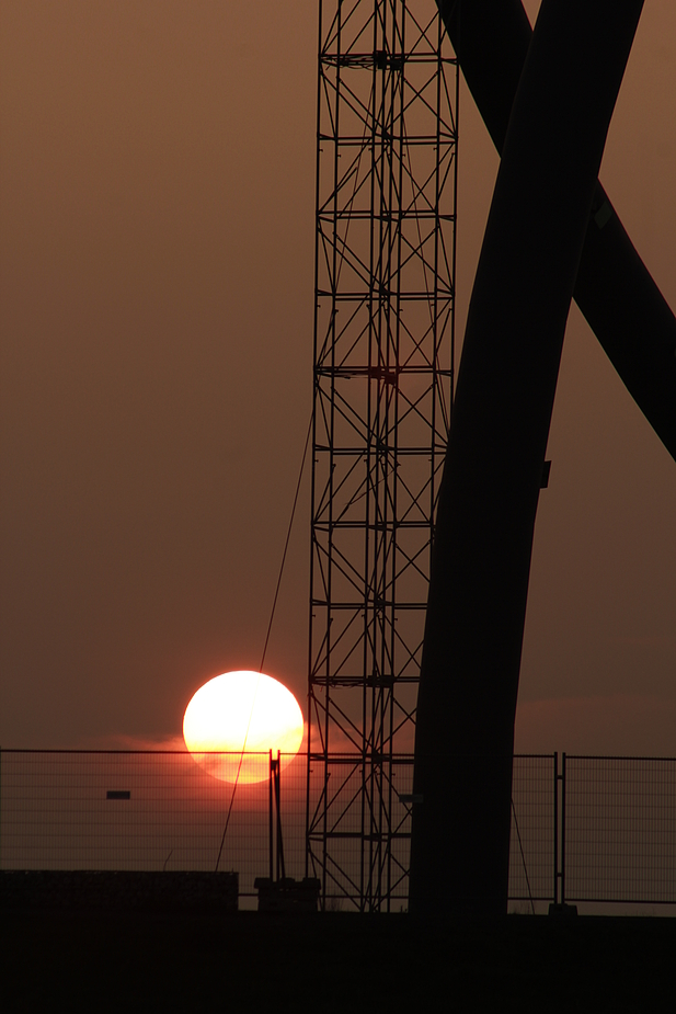 Sonnenuntergang auf Halde Hoheward