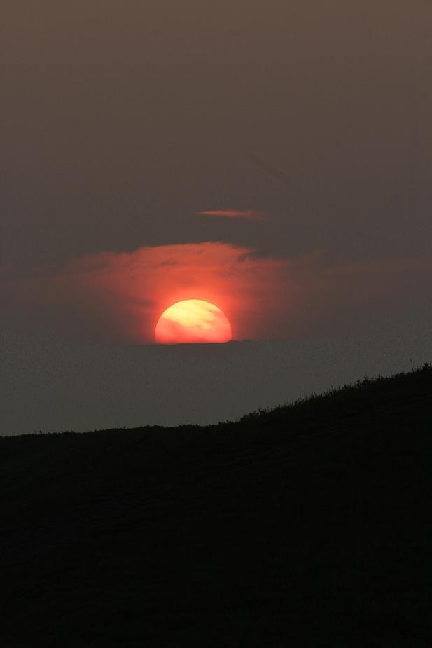 Sonnenuntergang auf Halde Hoheward II