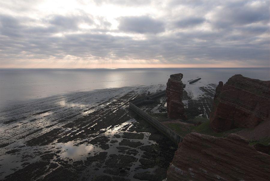 Sonnenuntergang auf Helgoland...