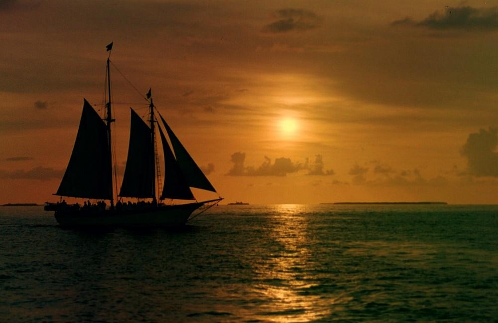 Sonnenuntergang auf Key West, Florida USA