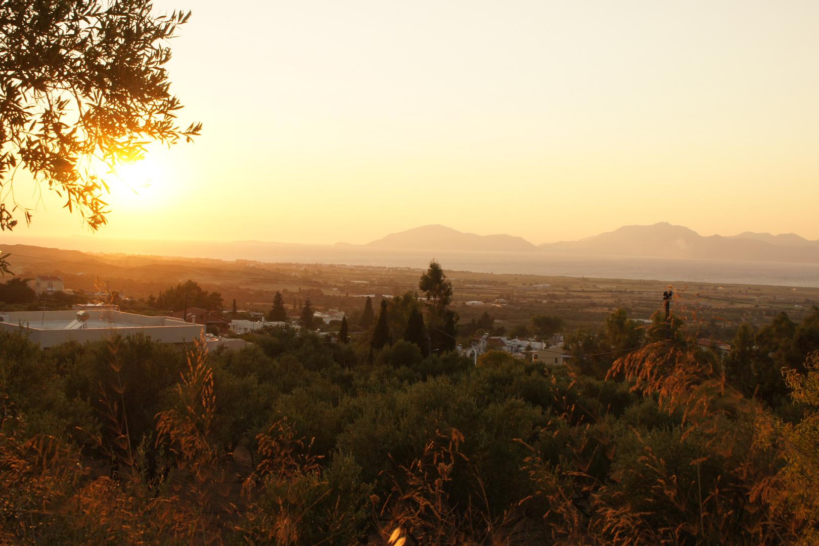 Sonnenuntergang auf Kos