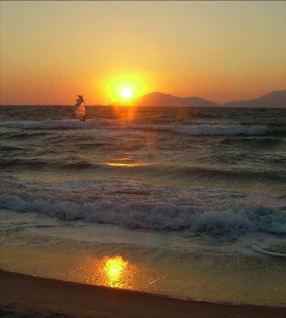 Sonnenuntergang auf Kos Juli 2007