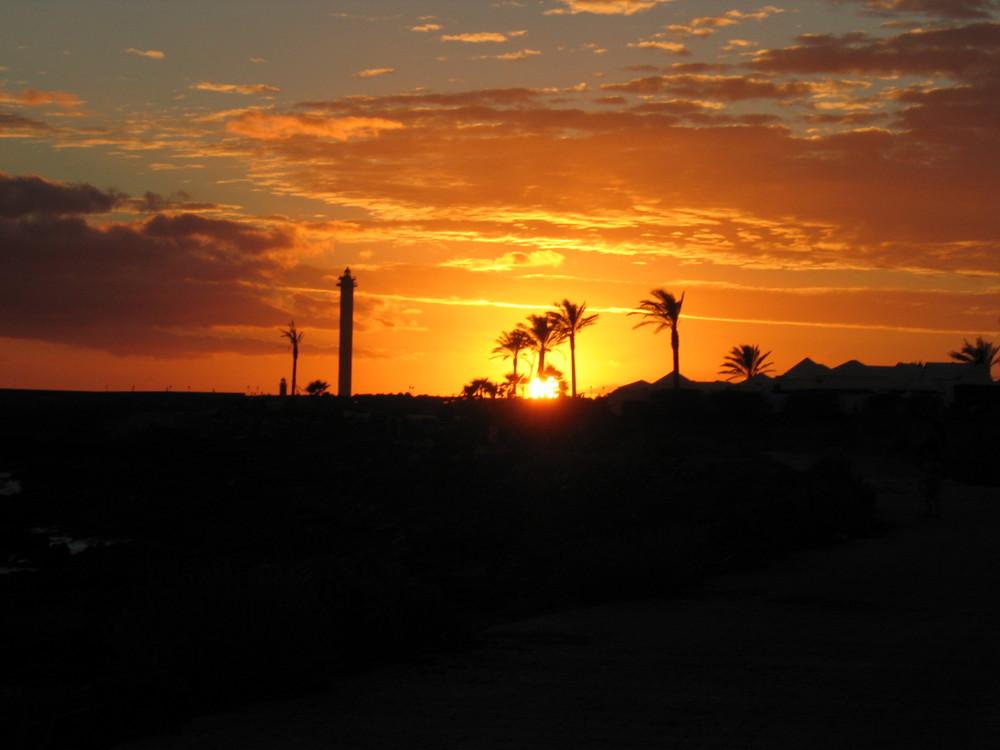 Sonnenuntergang auf Lanzarote