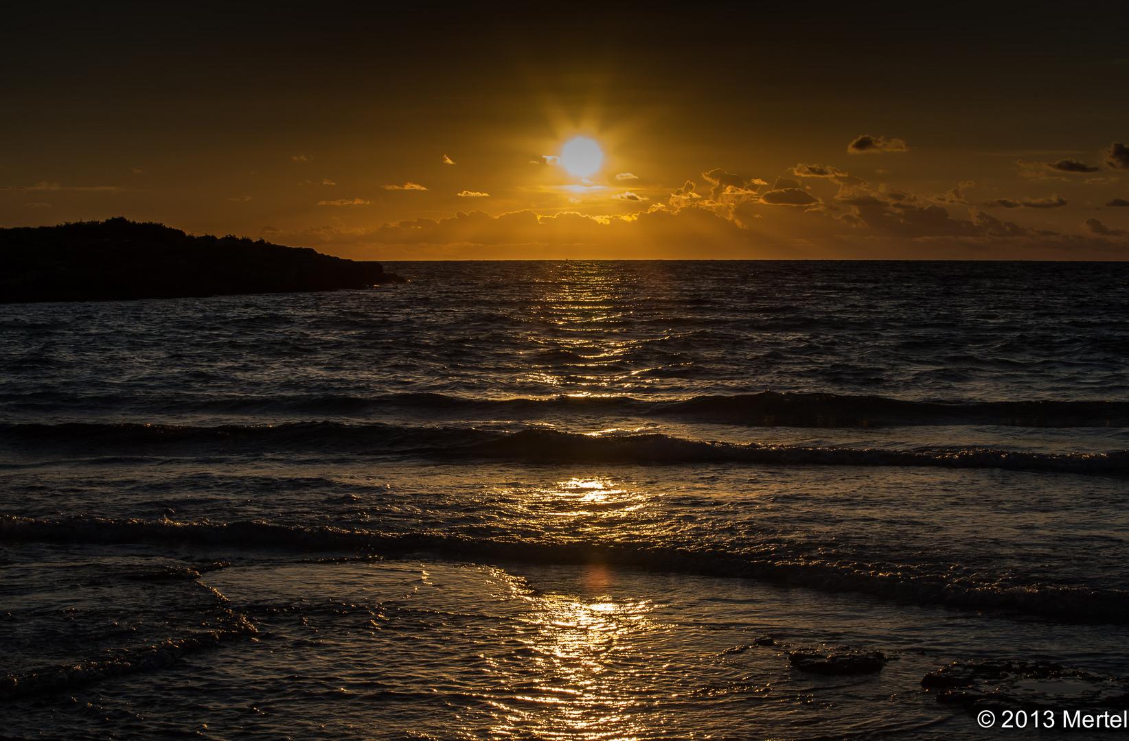 Sonnenuntergang auf Mallorca - Es Trenc