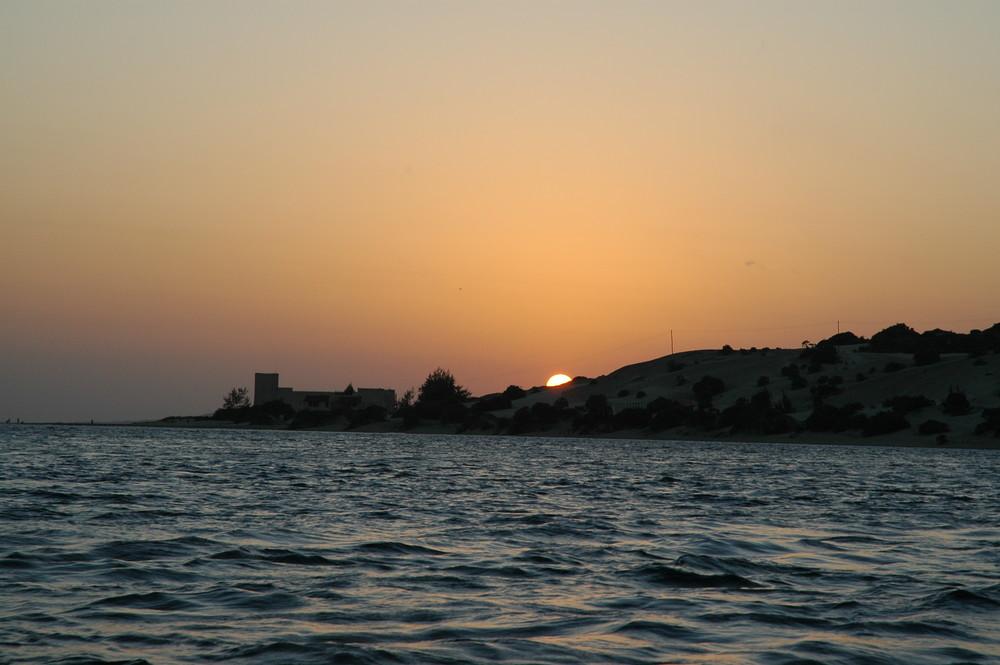 Sonnenuntergang auf Manda