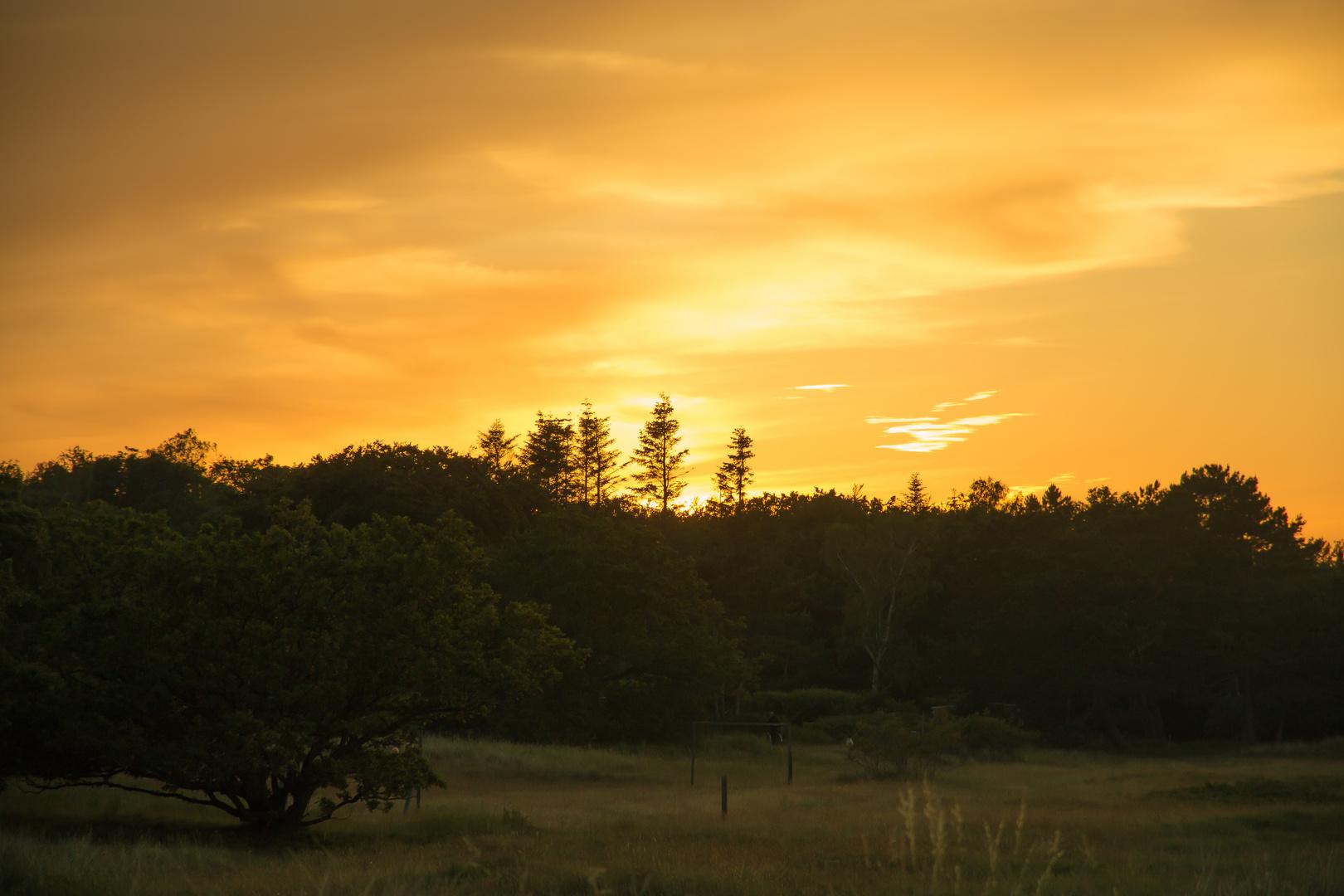 Sonnenuntergang auf Moen