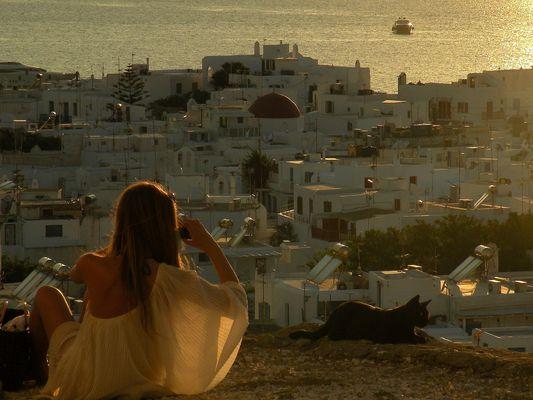 Sonnenuntergang auf Mykonos