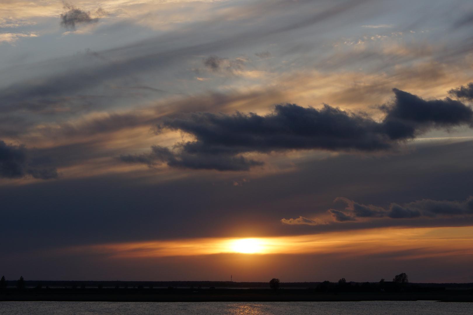Sonnenuntergang auf Norddeutsch