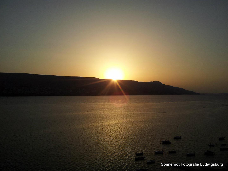 Sonnenuntergang auf Pag, Kroatien