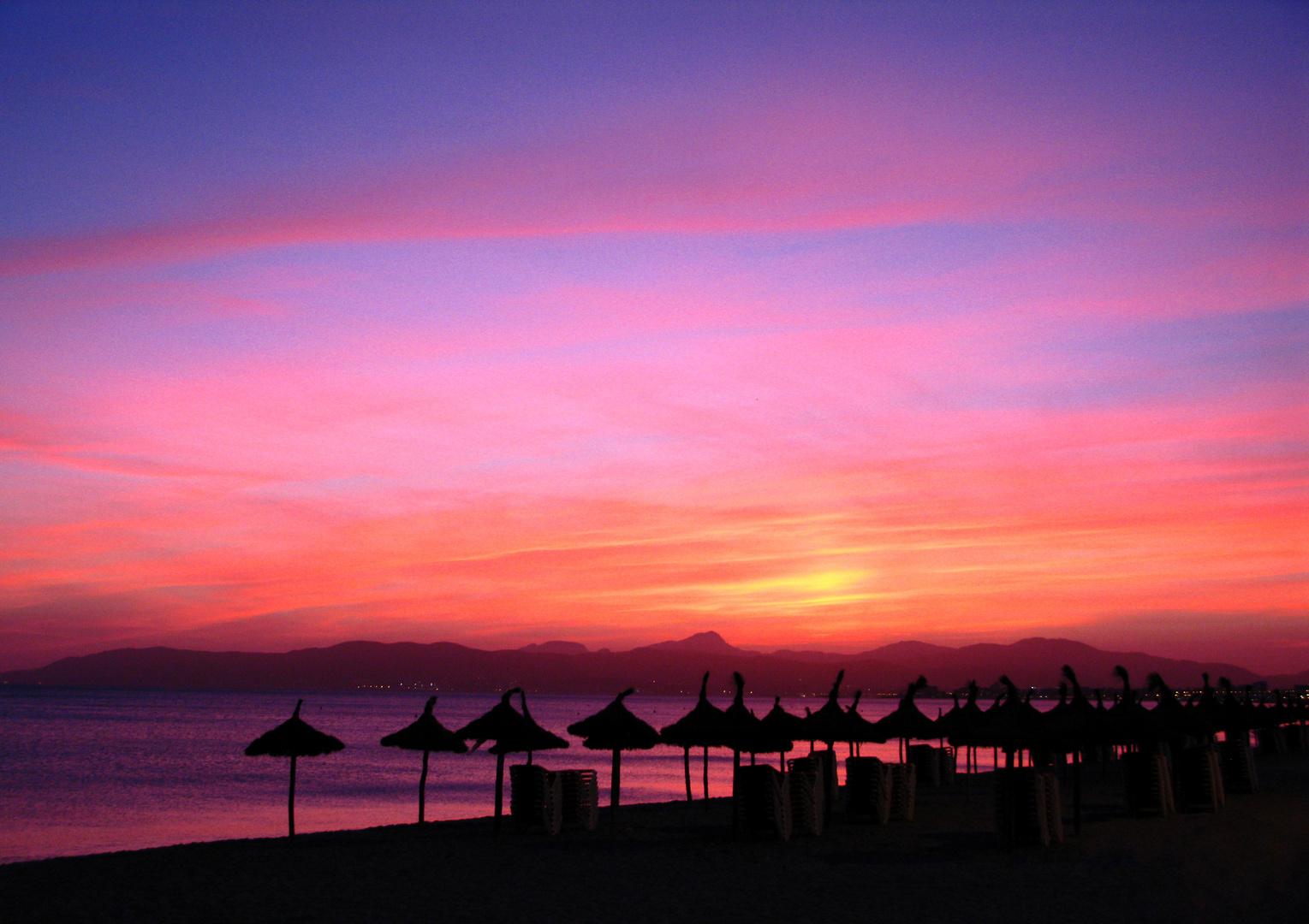 Sonnenuntergang auf Palma