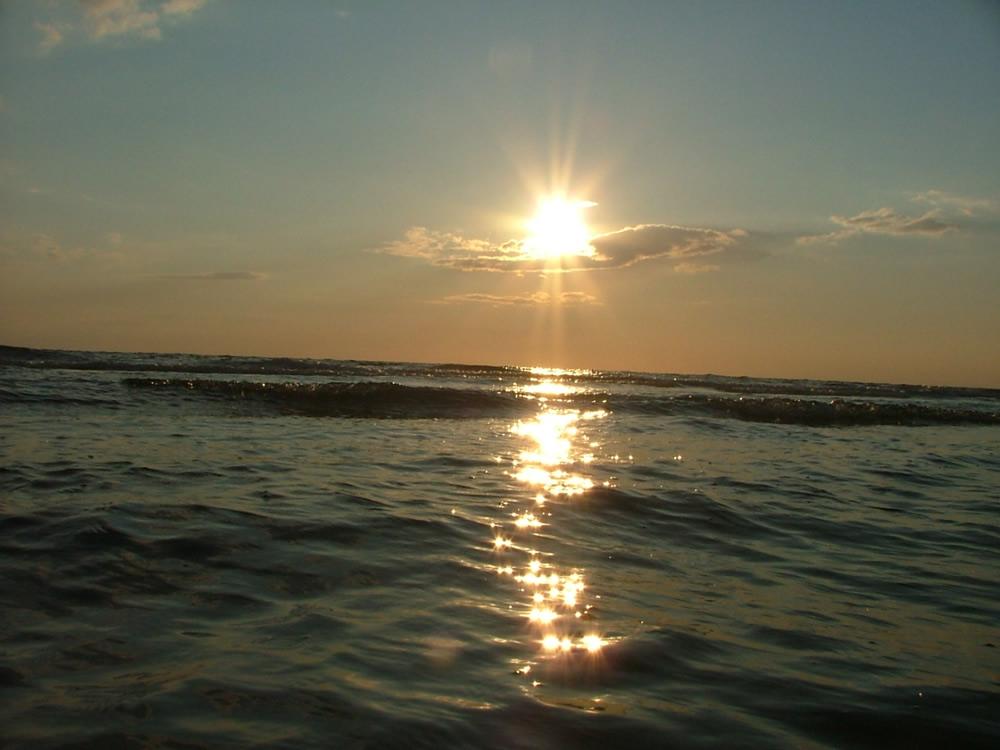 Sonnenuntergang auf Römö