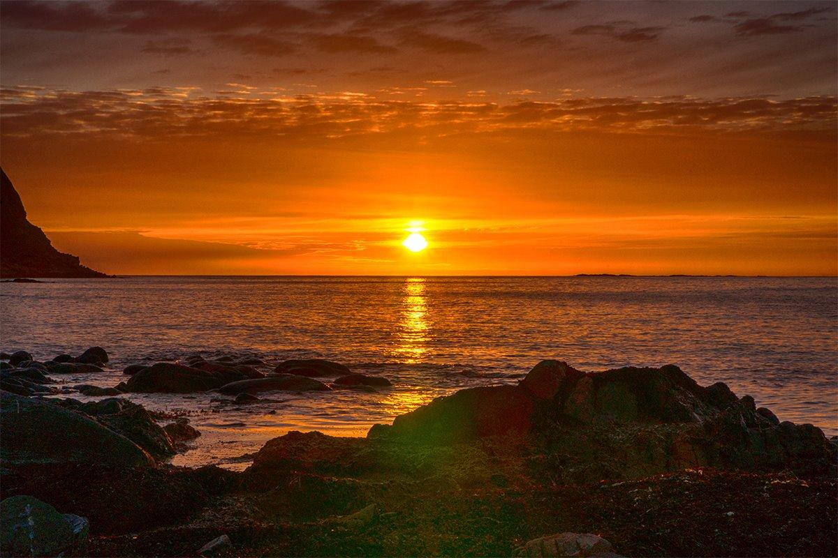 Sonnenuntergang auf Runde