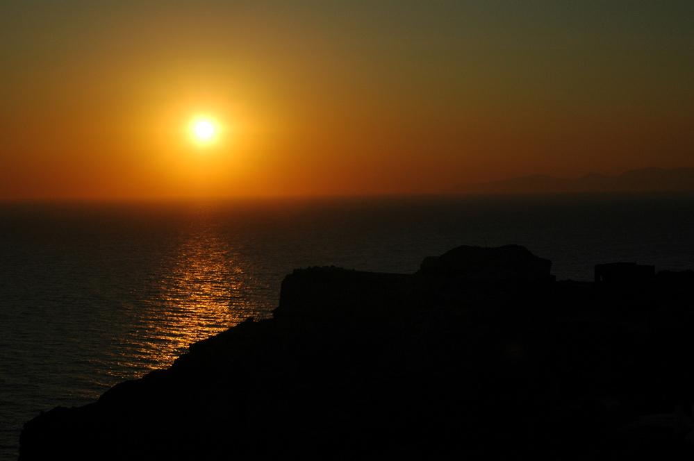 Sonnenuntergang auf Santorin 2