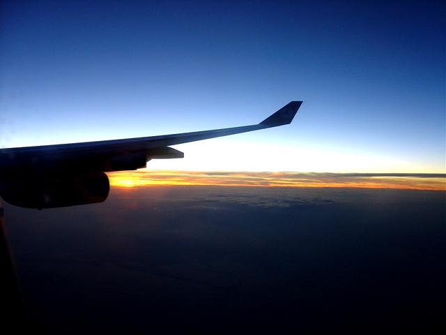 Sonnenuntergang auf Sibirien