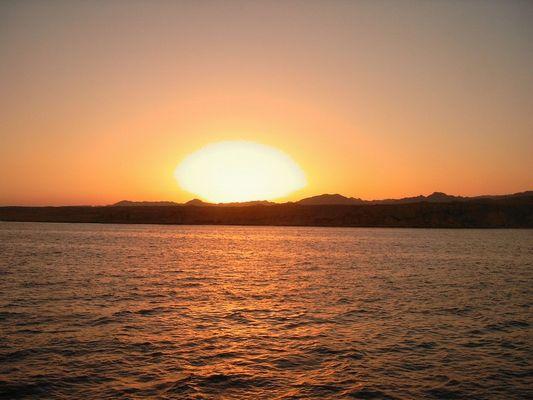 Sonnenuntergang auf Sinai!