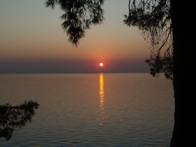 Sonnenuntergang auf Sithonia