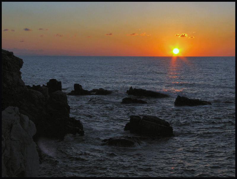 Sonnenuntergang auf Sizilien bei Cefalu 02