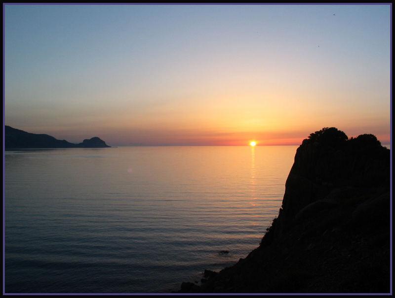 Sonnenuntergang auf Sizilien bei Cefalu