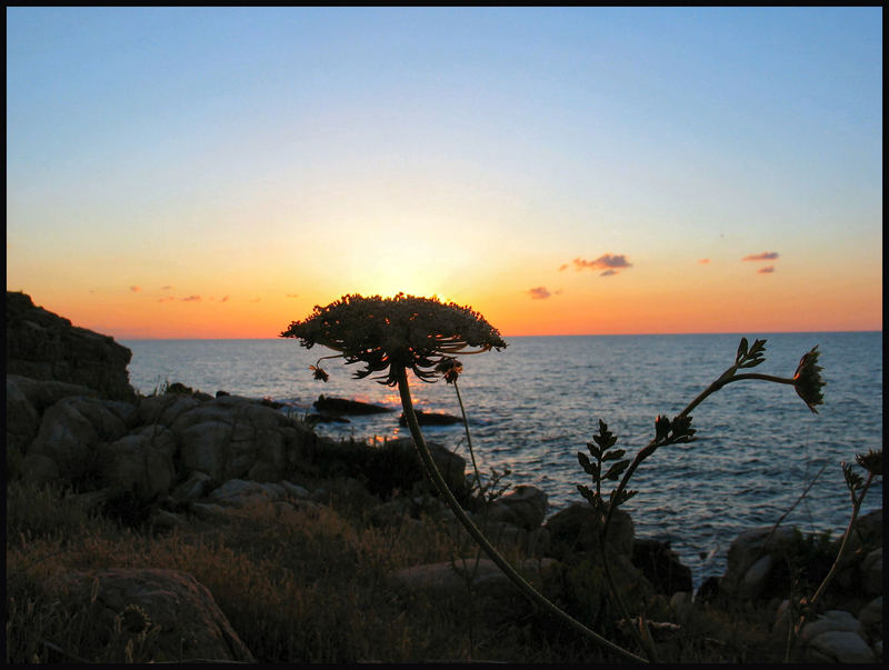 Sonnenuntergang auf Sizilien bei Cefalu Hotelanlage Polina 02