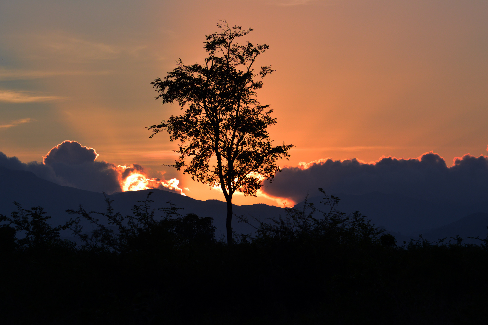 Sonnenuntergang auf Sri Lanka