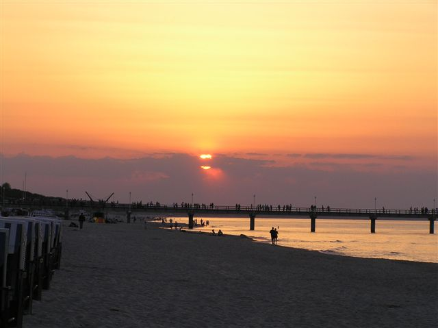 Sonnenuntergang auf Usedom