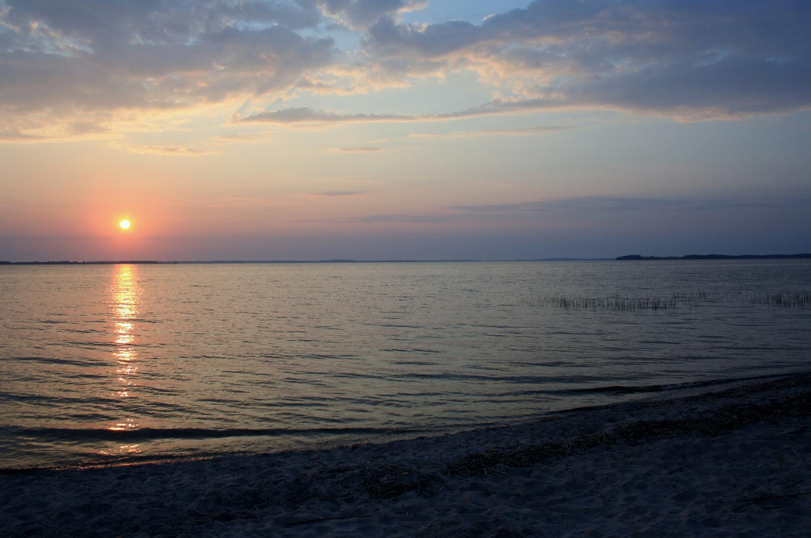 Sonnenuntergang auf Usedom am Achterwasser