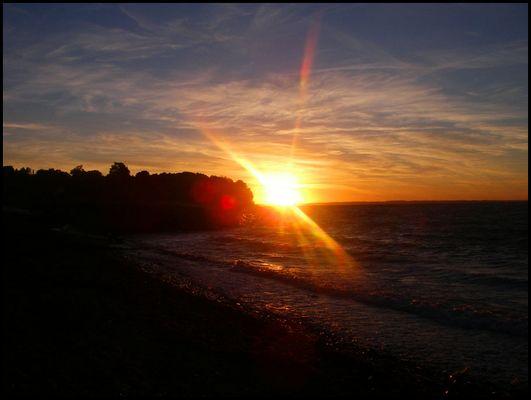 Sonnenuntergang auf Ven (Schweden)