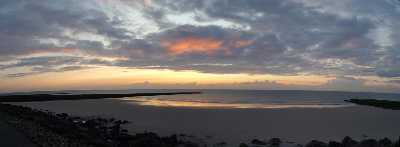 Sonnenuntergang auf Wangerooge Panorama