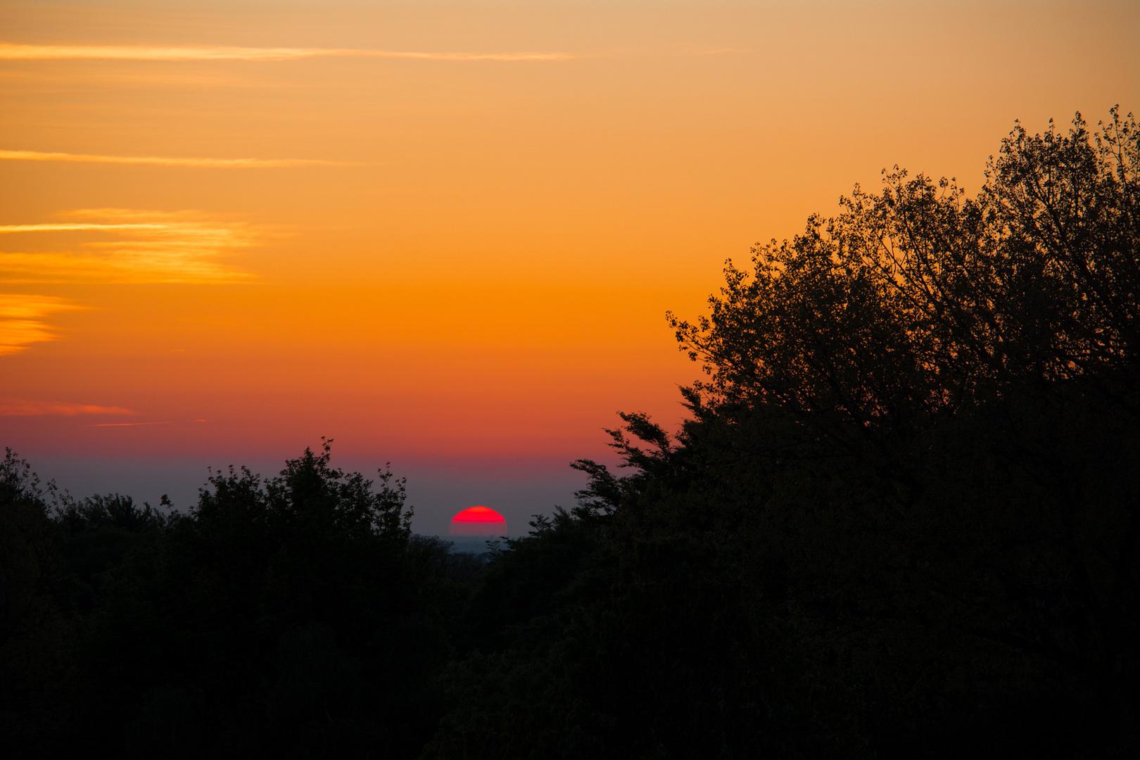 Sonnenuntergang auf´m Berg die 2 te