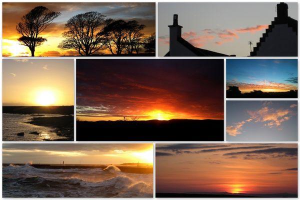 Sonnenuntergang aus Schottland (Archivbilder)