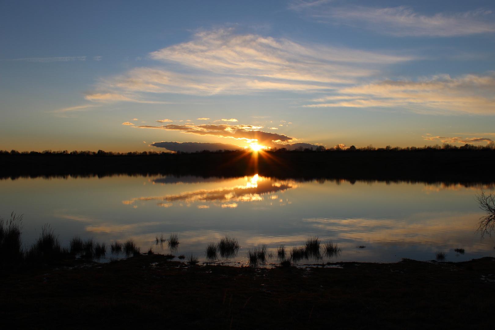 Sonnenuntergang Baggersee