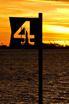 Sonnenuntergang Battery Park/Freiheitsstatue