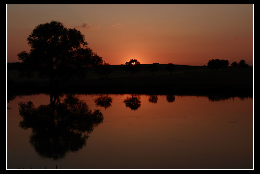 Sonnenuntergang bei Adelsdorf