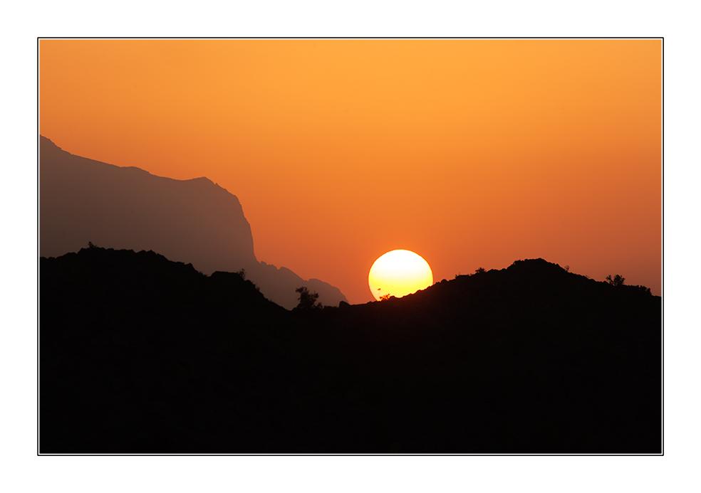 Sonnenuntergang bei Al Hamra