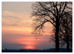 Sonnenuntergang bei Alsfeld 10.10.02