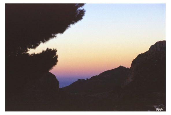 Sonnenuntergang bei Altea