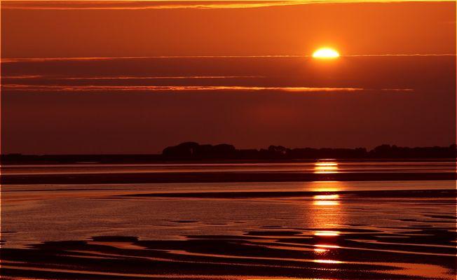 Sonnenuntergang bei Amrum