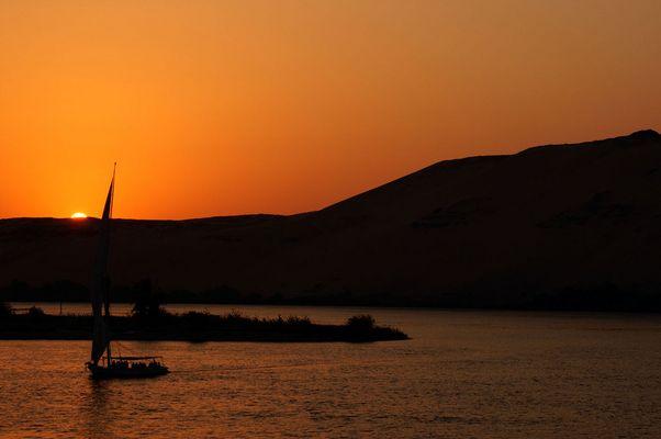 Sonnenuntergang bei Assuan
