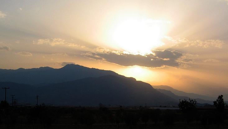 Sonnenuntergang bei Avra