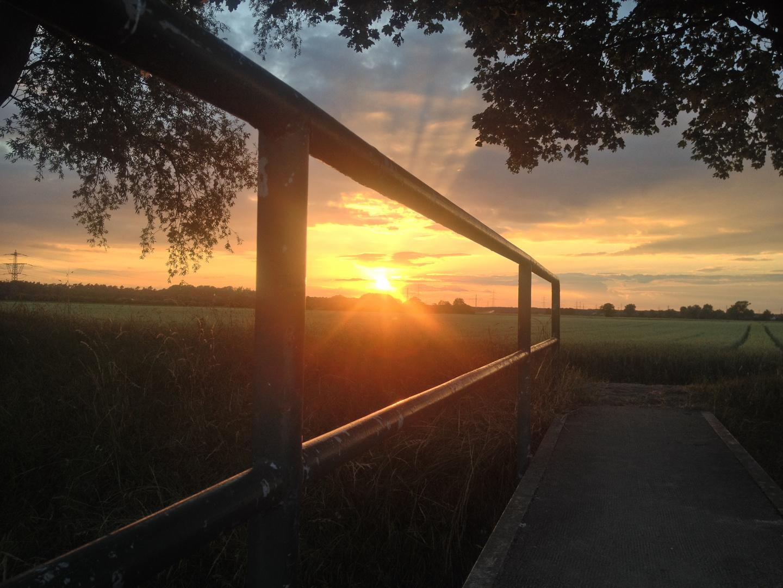 Sonnenuntergang bei Bensheim