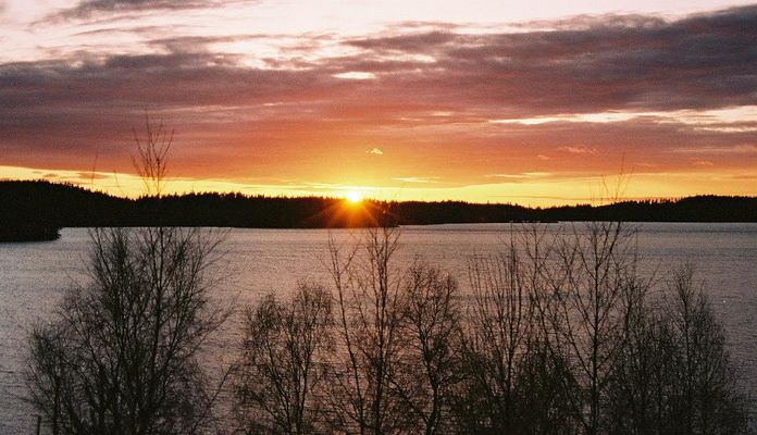Sonnenuntergang bei Borås