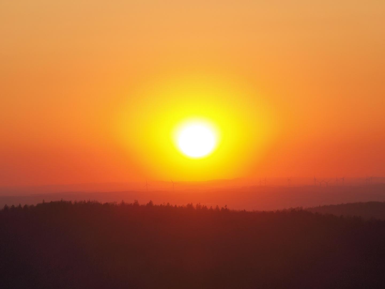 Sonnenuntergang bei Dabo (Vogesen)