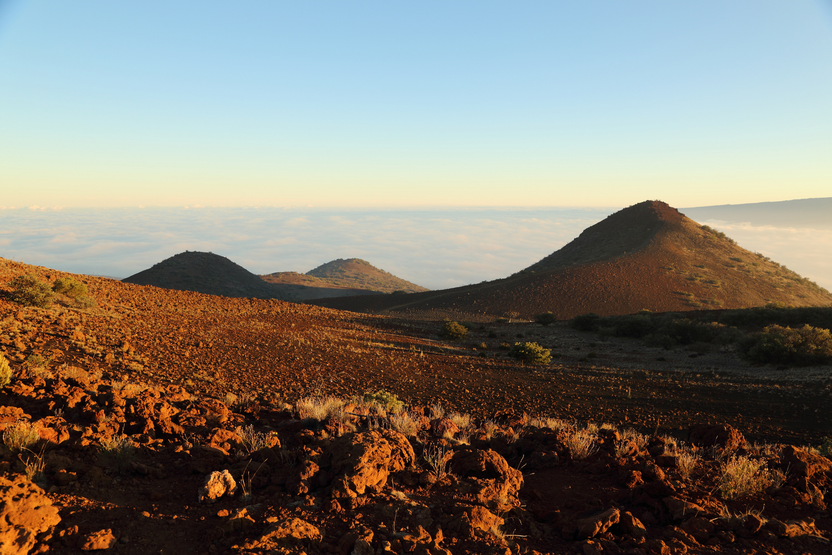 Sonnenuntergang bei der Mauna Kea Visitor Station